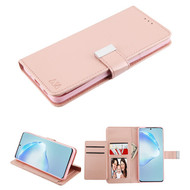 Xtra Series Essential Leather Wallet Stand Case for Samsung Galaxy S20 Plus - Rose Gold