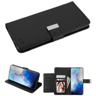 Xtra Series Essential Leather Wallet Stand Case for Samsung Galaxy S20 - Black