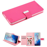 Xtra Series Essential Leather Wallet Stand Case for Samsung Galaxy S20 - Hot Pink