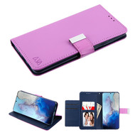 Xtra Series Essential Leather Wallet Stand Case for Samsung Galaxy S20 - Purple