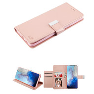 Xtra Series Essential Leather Wallet Stand Case for Samsung Galaxy S20 - Rose Gold