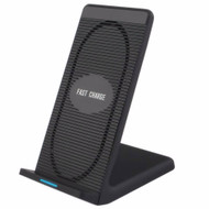 Qi Certified 10W Fast Wireless Charger Charging Stand with Cooling Fan - Black
