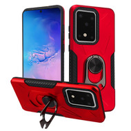 Multifunctional Hybrid Case with 360° Bottle Opener Rotating Ring Holder Kickstand for Samsung Galaxy S20 Ultra - Red