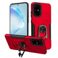 Multifunctional Hybrid Case with 360° Bottle Opener Rotating Ring Holder Kickstand for Samsung Galaxy S20 Plus - Red
