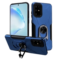 Multifunctional Hybrid Case with 360° Bottle Opener Rotating Ring Holder Kickstand for Samsung Galaxy S20 Plus - Navy