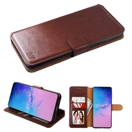 Element Series Book-Style Leather Folio Case for Samsung Galaxy S20 Ultra - Brown