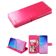 Element Series Book-Style Leather Folio Case for Samsung Galaxy S20 Ultra - Hot Pink