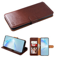 Element Series Book-Style Leather Folio Case for Samsung Galaxy S20 Plus - Brown