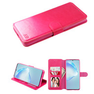 Element Series Book-Style Leather Folio Case for Samsung Galaxy S20 Plus - Hot Pink