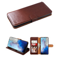 Element Series Book-Style Leather Folio Case for Samsung Galaxy S20 - Brown