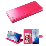 Element Series Book-Style Leather Folio Case for Samsung Galaxy S20 - Hot Pink