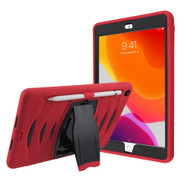 Maximum Protection Rugged Hybrid Armor Case with Kickstand for iPad 10.2 inch (7th Generation) - Red