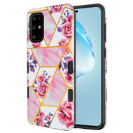 TUFF Subs Hybrid Armor Case for Samsung Galaxy S20 Plus - Marble Roses