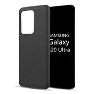 Liquid Silicone Protective Case for Samsung Galaxy S20 Ultra - Black