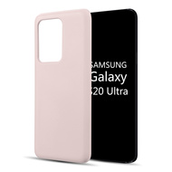 Liquid Silicone Protective Case for Samsung Galaxy S20 Ultra - Pink