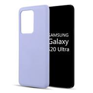 Liquid Silicone Protective Case for Samsung Galaxy S20 Ultra - Lavender