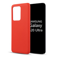 Liquid Silicone Protective Case for Samsung Galaxy S20 Ultra - Red