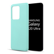Liquid Silicone Protective Case for Samsung Galaxy S20 Ultra - Baby Blue