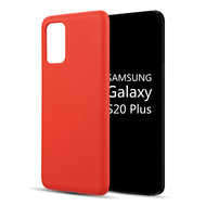 Liquid Silicone Protective Case for Samsung Galaxy S20 Plus - Red