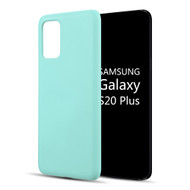 Liquid Silicone Protective Case for Samsung Galaxy S20 Plus - Baby Blue