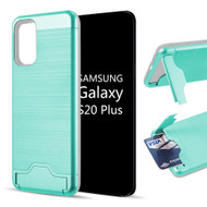 KardCase Hybrid Case with Card Compartment and Kickstand for Samsung Galaxy S20 Plus - Teal