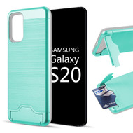 KardCase Hybrid Case with Card Compartment and Kickstand for Samsung Galaxy S20 - Teal