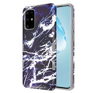 TUFF Subs Hybrid Armor Case for Samsung Galaxy S20 Plus - Marble Navy Blue