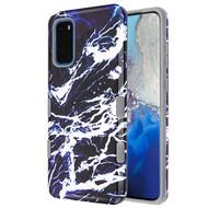 TUFF Subs Hybrid Armor Case for Samsung Galaxy S20 - Marble Navy Blue