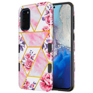 TUFF Subs Hybrid Armor Case for Samsung Galaxy S20 - Marble Roses