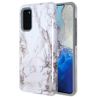Fuse Slim Armor Hybrid Case for Samsung Galaxy S20 - Marble White