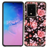 Hybrid Multi-Layer Armor Case for Samsung Galaxy S20 Ultra - Pink Roses