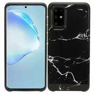 Hybrid Multi-Layer Armor Case for Samsung Galaxy S20 Plus - Marble Black