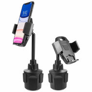 Telescopic Car Cup Holder Phone Mount - Black