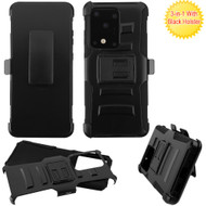 Advanced Armor Hybrid Case with Belt Clip Holster for Samsung Galaxy S20 Ultra - Black