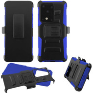 Advanced Armor Hybrid Case with Belt Clip Holster for Samsung Galaxy S20 Ultra - Blue