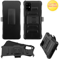 Advanced Armor Hybrid Case with Belt Clip Holster for Samsung Galaxy S20 Plus - Black