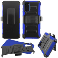 Advanced Armor Hybrid Case with Belt Clip Holster for Samsung Galaxy S20 - Blue