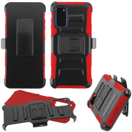 Advanced Armor Hybrid Case with Belt Clip Holster for Samsung Galaxy S20 - Red