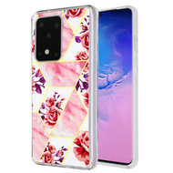 Fusion Shield Tough Snap-on Case for Samsung Galaxy S20 Ultra - Marble Roses