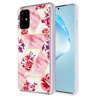 Fusion Shield Tough Snap-on Case for Samsung Galaxy S20 Plus - Marble Roses