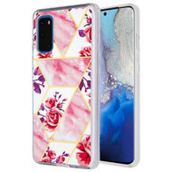 Fusion Shield Tough Snap-on Case for Samsung Galaxy S20 - Marble Roses