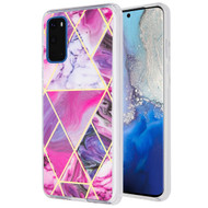 Fusion Shield Tough Snap-on Case for Samsung Galaxy S20 - Marble Purple