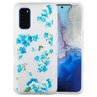 Military Grade Certified TUFF Hybrid Armor Case for Samsung Galaxy S20 - Frosted Aqua Myositis