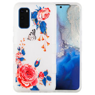 Military Grade Certified TUFF Hybrid Armor Case for Samsung Galaxy S20 - Frosted Rose Garden