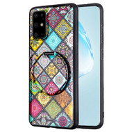 Tough Shield Snap-on Hybrid Case with Integrated Mirror Kickstand for Samsung Galaxy S20 Plus - Mediterranean