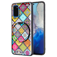 Tough Shield Snap-on Hybrid Case with Integrated Mirror Kickstand for Samsung Galaxy S20 - Mediterranean