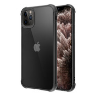 Semi Transparent Flexible TPU Case for iPhone 11 Pro Max - Black