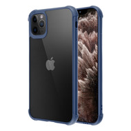 Semi Transparent Flexible TPU Case for iPhone 11 Pro Max - Navy Blue