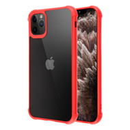 Semi Transparent Flexible TPU Case for iPhone 11 Pro Max - Red