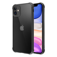 Semi Transparent Flexible TPU Case for iPhone 11 - Black